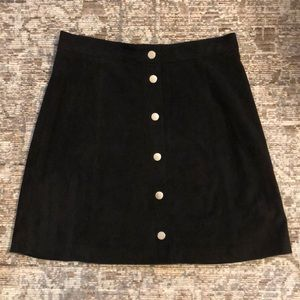 Black Suede H&M Mini Skirt